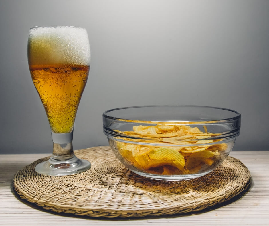 beer and chips eating everything in moderation